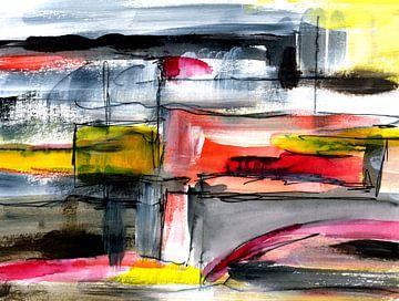 abstrakte geometrische Art von Claudia Gründler