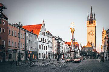 Mooi gouden licht in Straubing Bavaria van Thilo Wagner
