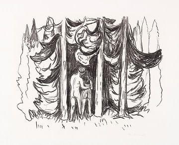 Skogen (Der Wald), EDVARD MUNCH, 1909 von Atelier Liesjes