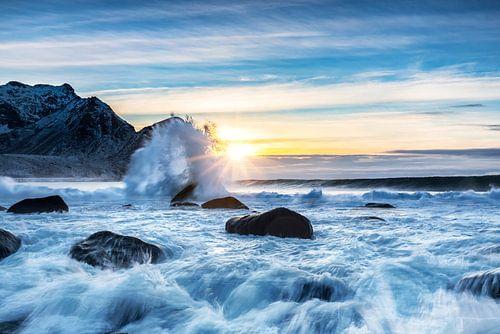 Sunset onthe beach van Tilo Grellmann