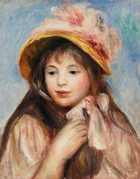 Renoir, Junges Mädchen mit rosa Hut (1894)