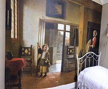 Kundenfoto: Das Schlafzimmer, Pieter de Hooch von Liszt Collection, auf fototapete