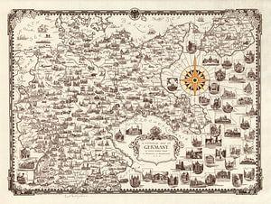 Geïllustreerde kaart van Duitsland
