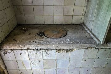 Smerig toilet van