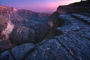 Jebel Shams Canyon Panorama im Oman von Jean Claude Castor