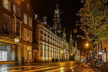 Breestraat Leiden in de avond van Dirk van Egmond