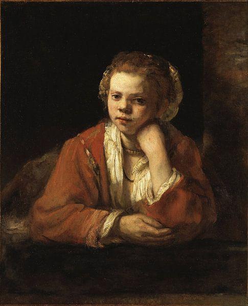 The Kitchen Maid, Rembrandt sur Rembrandt van Rijn