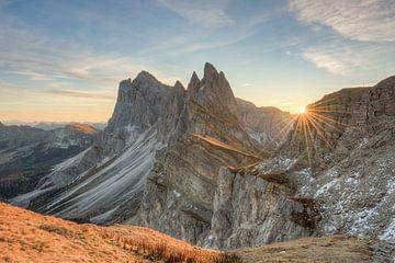 Seceda Sonnenaufgang von Michael Valjak