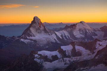 Matterhorn bei Sonnenuntergang von Menno Boermans