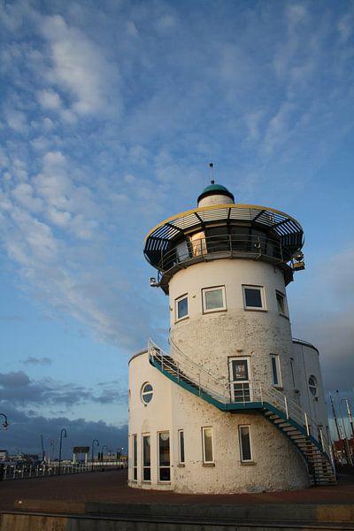 Toren in de haven van Harlingen van Jetty Boterhoek
