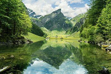 Seealpsee vor Alpstein Gebirge von Besa Art