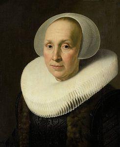Portret van Margriet Benningh, Nicolaes Eliasz. Pickenoy - ca. 1629