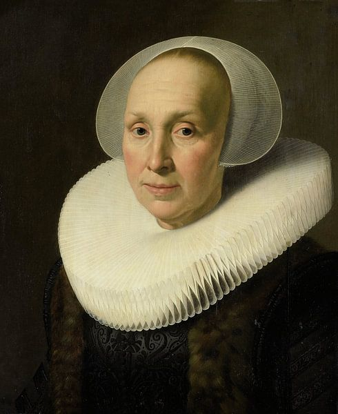 Portret van Margriet Benningh, Nicolaes Eliasz. Pickenoy - ca. 1629 van Het Archief