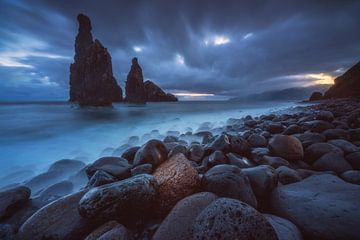 Madeira Ilheus da Janela bij zonsopgang van