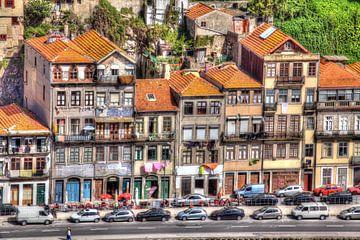 Alte bunte Häuser, Altstadt, Porto, Portugal