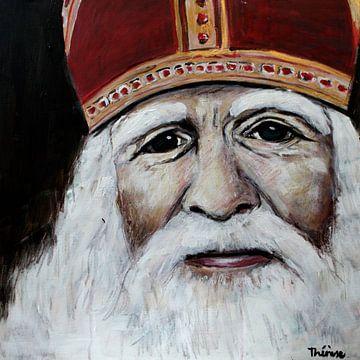 Porträtgemälde von St. Nikolaus. von Therese Brals
