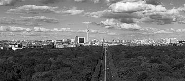 Berlijn Skyline Panorama Zwart-Wit