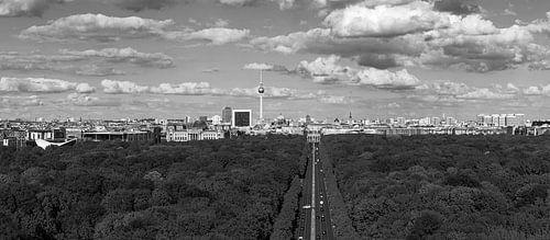 Berlin Skyline Panorama Schwarzweiss