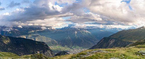 Uitzicht op bergen in Zwitserland