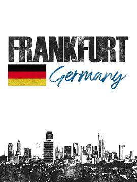 Francfort-sur-le-Main Allemagne sur Printed Artings