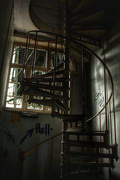 Gekke trap in een verlaten kantoor van Melvin Meijer