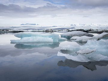 Jökulsárlón gletsjermeer van Roelof Nijholt