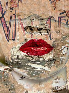Urban red lips