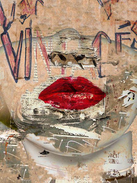 Urban red lips von Gabi Hampe