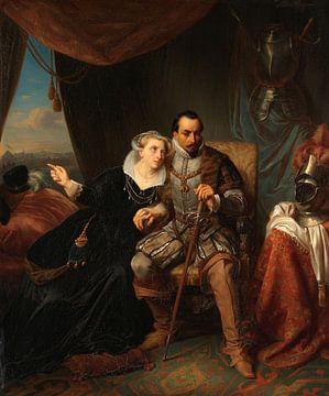 Magdalena Moons bittet ihren Verlobten Francisco Valdez, den Sturm auf Leiden zu verschieben, 1574,