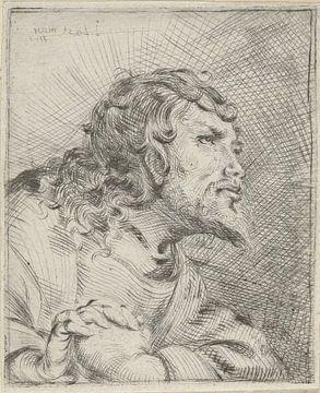 Büste eines betenden Mannes, Pieter Lastman, 1593 - 1633