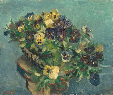 Korb mit Stiefmüttern auf einem Tisch, Vincent van Gogh