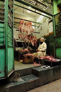 Butcher in Delhi India sur Gonnie van de Schans