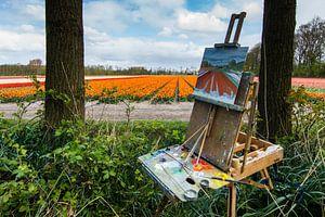 Tulpenvelden en schilders...