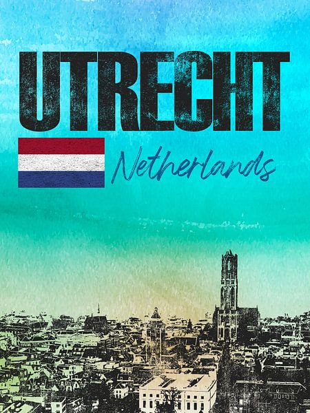 Utrecht Nederland van Printed Artings