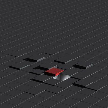 Lineaire geometrie in zwart van Andree Jakobson