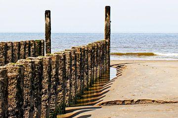Zeeland strandpalen op het strand van Lia Morcus