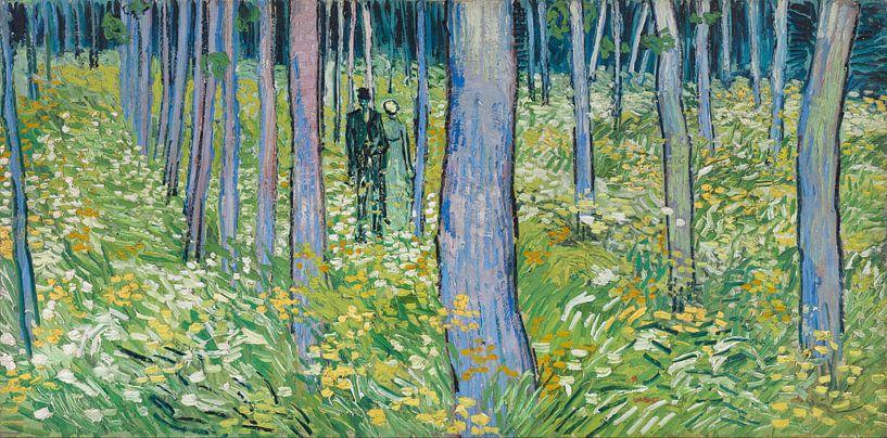 Vincent van Gogh. Twee figuren in kreupelhout van 1000 Schilderijen