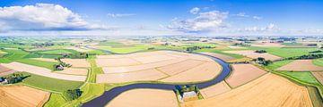 Reitdiep Groningen van Boven (3:1 panorama) van Frenk Volt