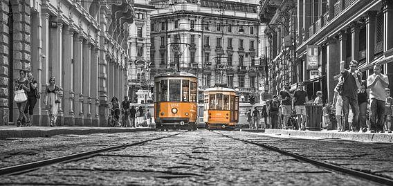 Milaan trolleys van Bas Wolfs