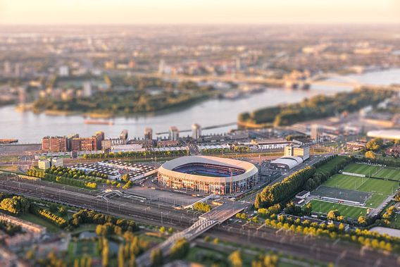 Luchtfoto Stadion Feyenoord - De Kuip van Prachtig Rotterdam
