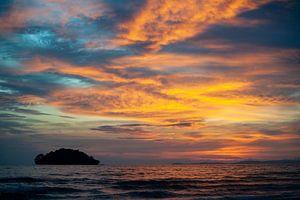 Zonsondergang Cambodja van Sebastiaan Hamming