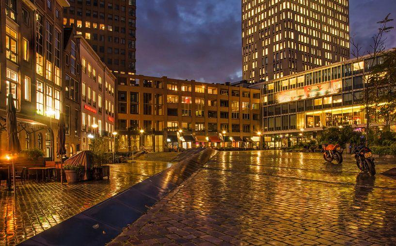 Gelderseplein in de regen van Frans Blok