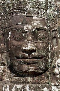 Cambodja - tempel - gezicht