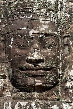 Cambodja - tempel - gezicht von