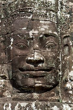 Cambodja - tempel - gezicht von Jolanda van Eek