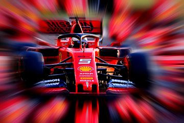 Fullspeed Vettel van Jean-Louis Glineur alias DeVerviers