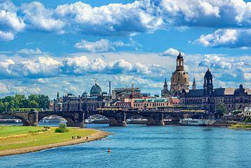 Oude stadsgezicht Dresden van Ullrich Gnoth