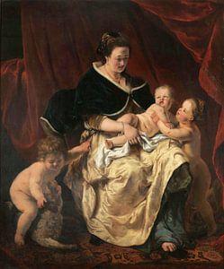 Mutter mit drei Kindern, Ferdinand Bol
