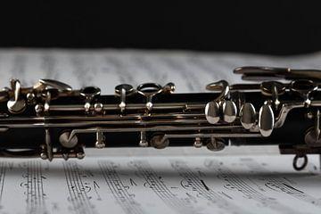 Klarinet met muziekblad