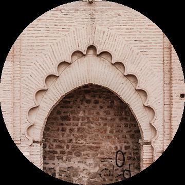Poort in de Medina van Marrakesh van Wendy van Aal